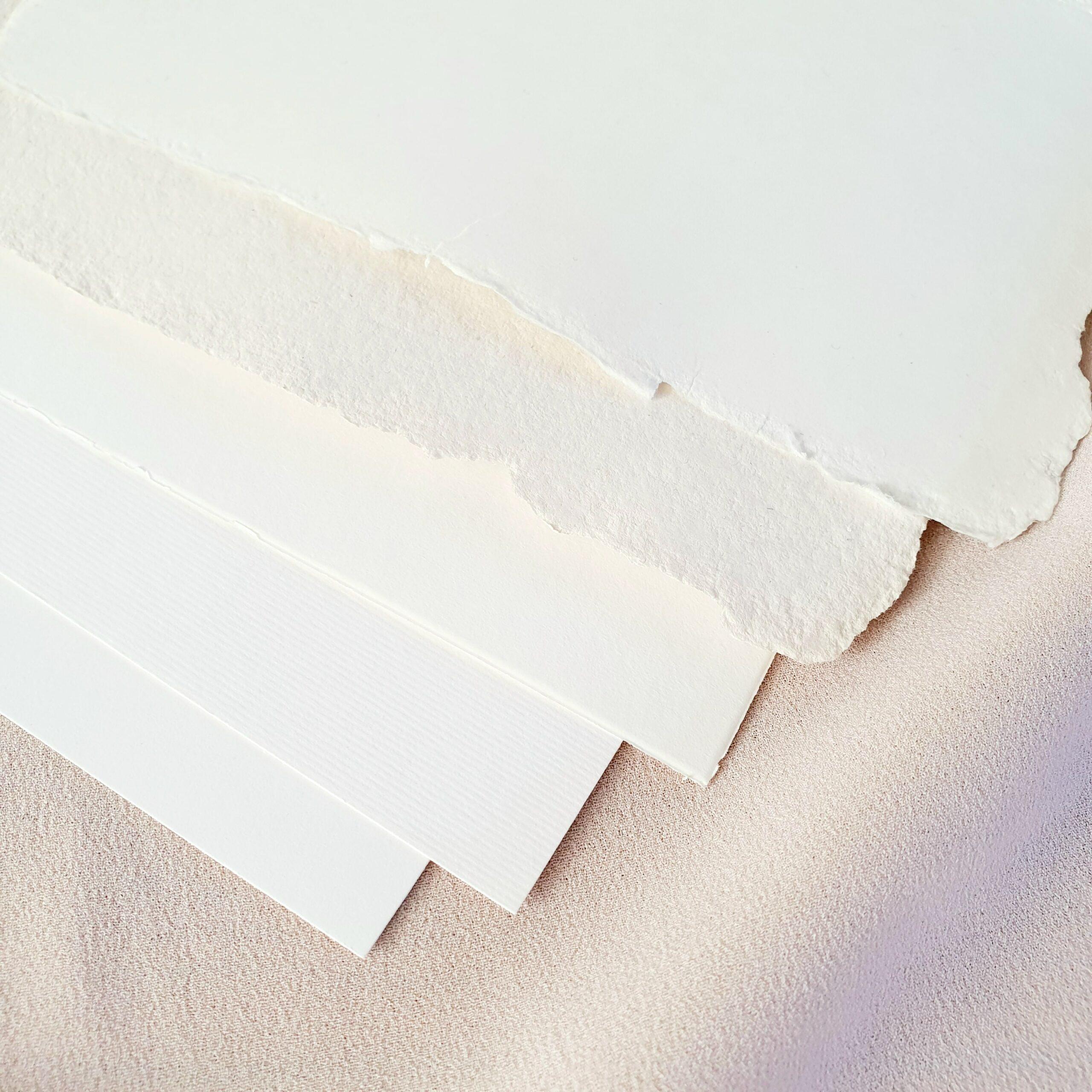 luxe katoen papier en handgeschept papier