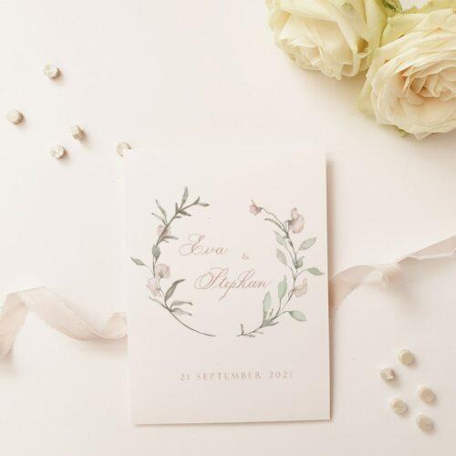 romantische uitnodiging aquarel met kalligrafie