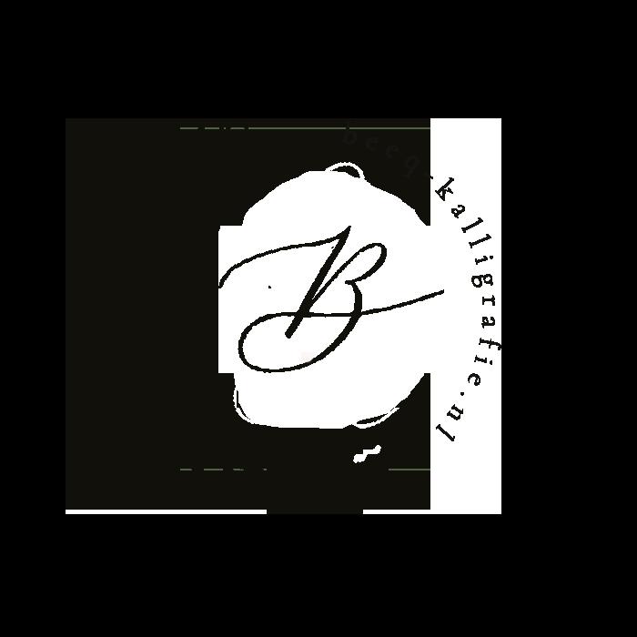 logo met modern kalligrafie B