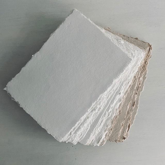 handgeschept papier wit en blush