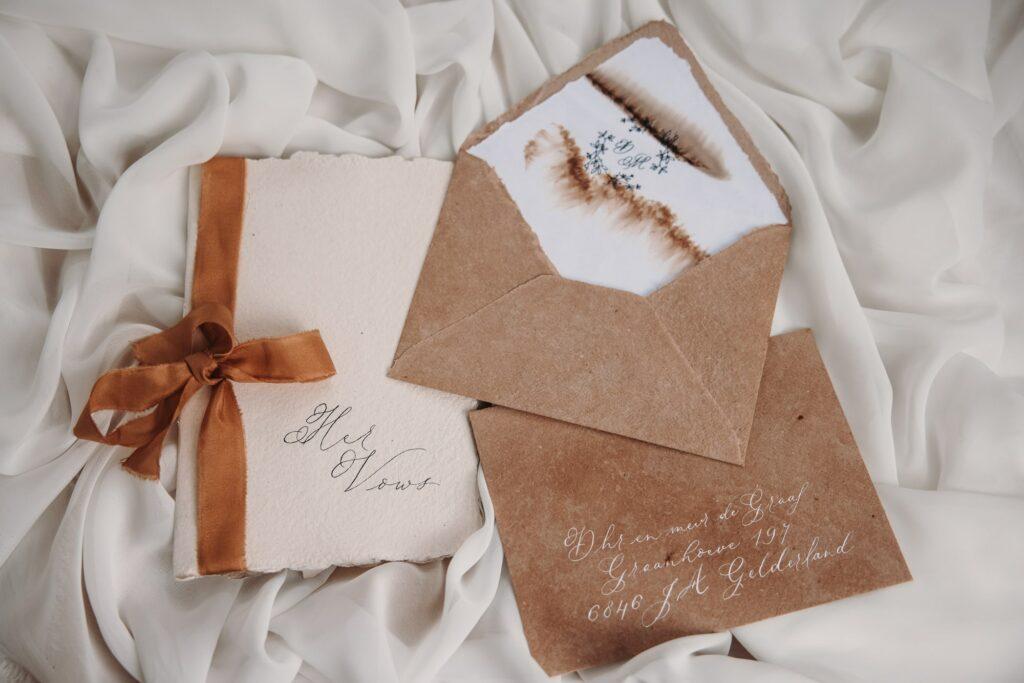 envelopliner, envelop met kalligrafie, gelofteboekje