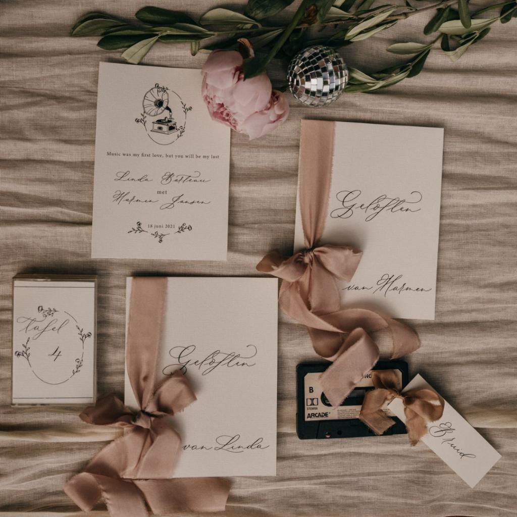 tafelnummer bruiloft
