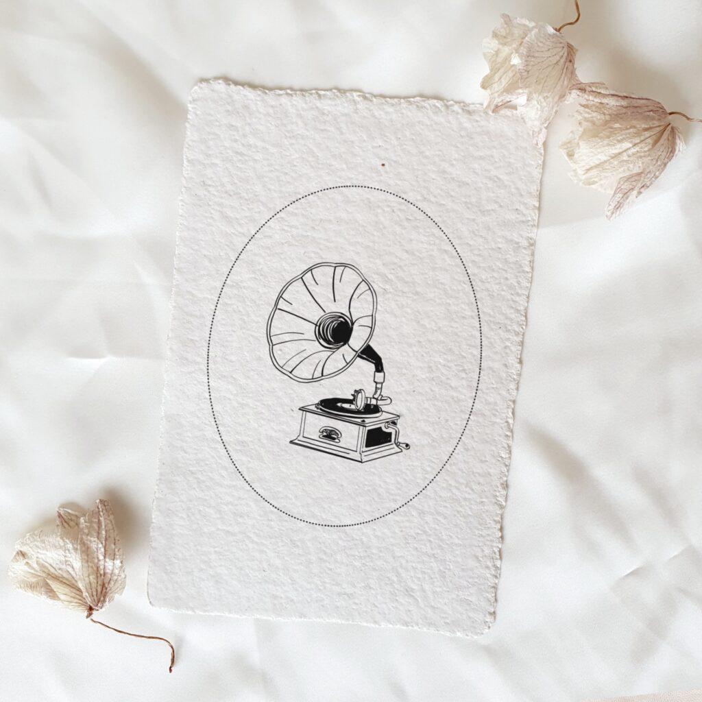 minimalistische trouwkaart klassieke kalligrafie